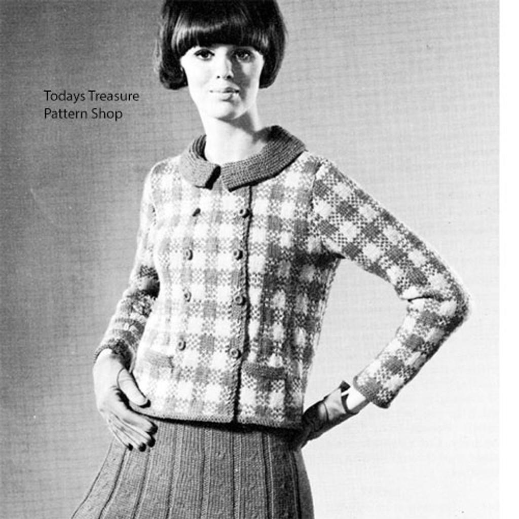 Jackie O Plaid Knit Skirt Pattern