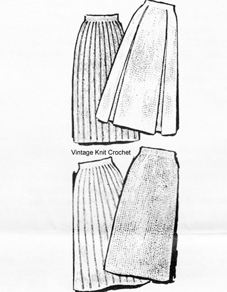 Knitted A-Line Skirt Pattern, Laura Wheeler 889