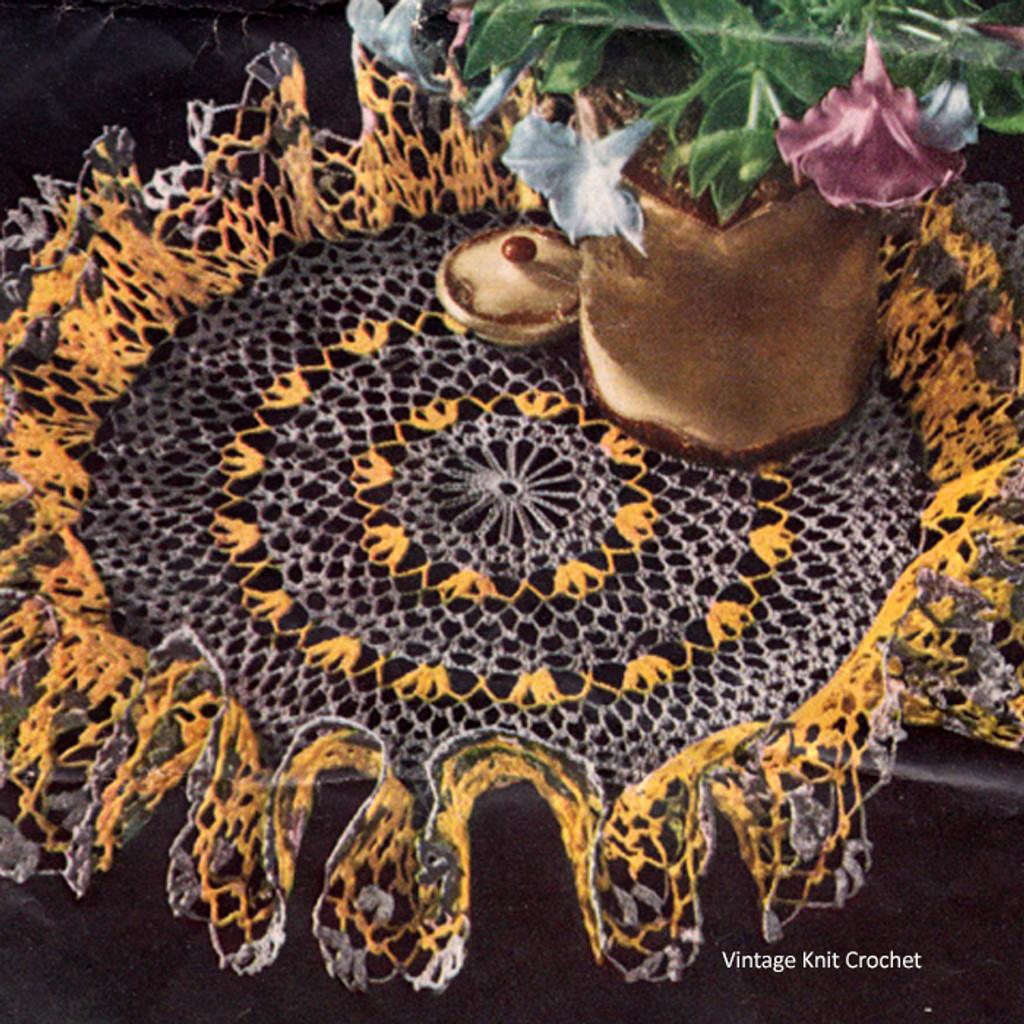 Vintage Gray Crochet Doily Pattern