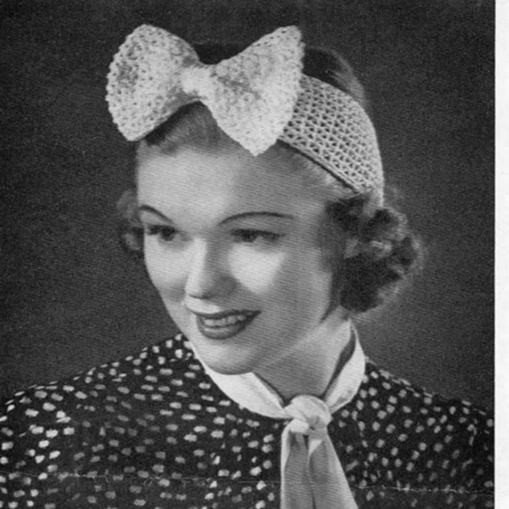 Vintage Bow Headband, Free Crochet Pattern