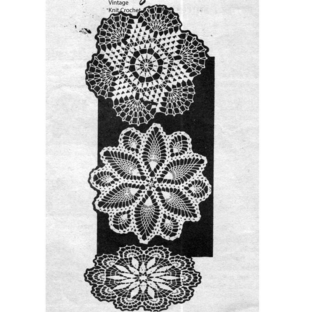 Pineapple Crocheted Doilies Pattern