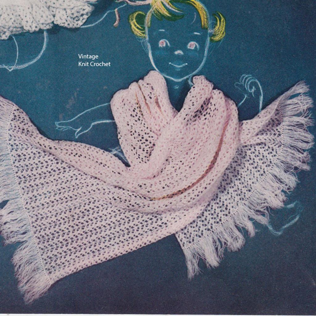 Baby Shawl Knitting Pattern