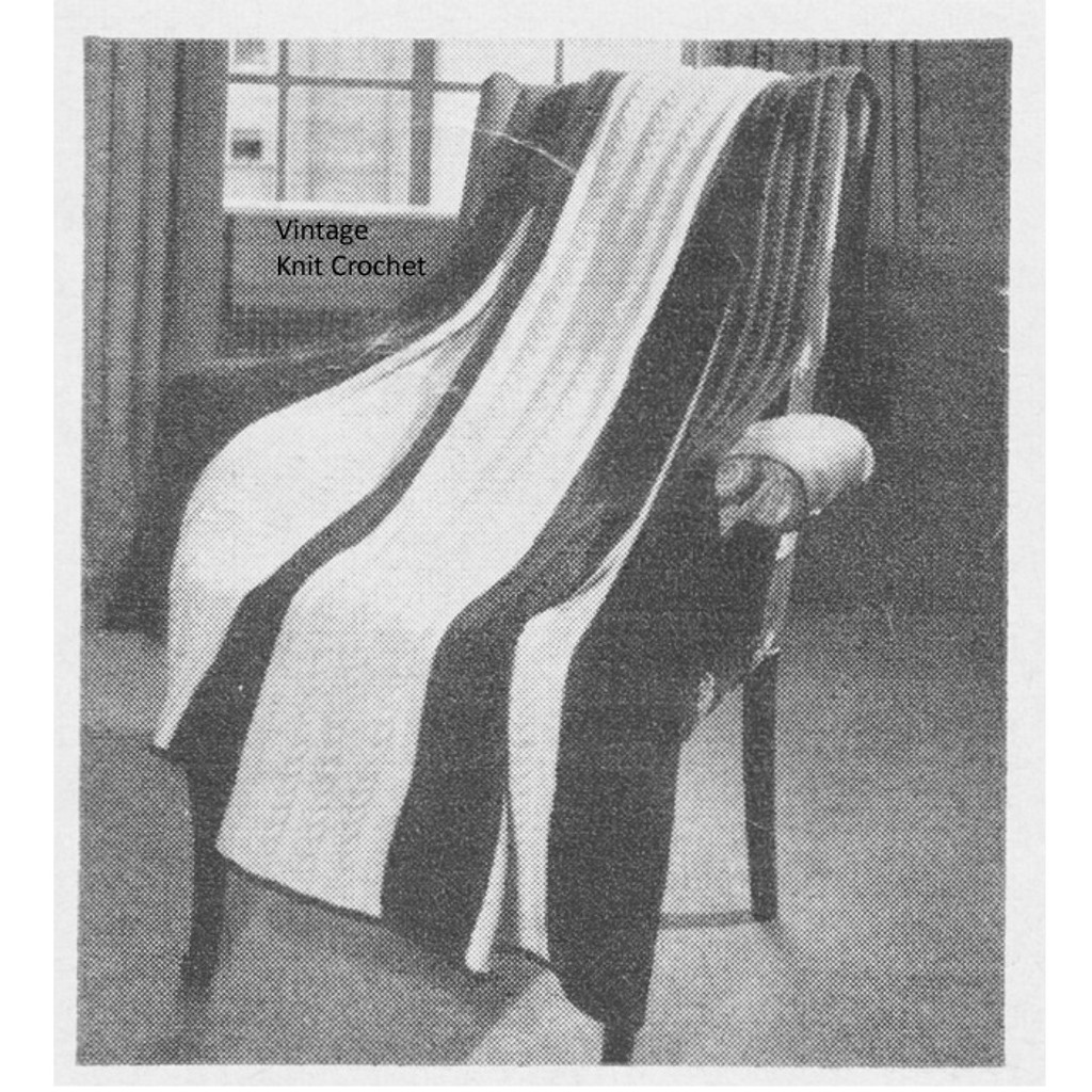 Vintage Cable Afghan Knitting Pattern in Knitting Worsted