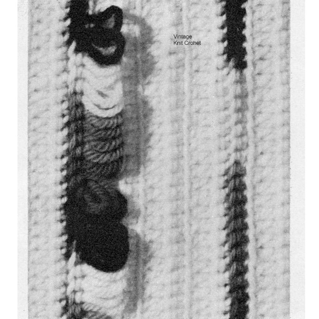 Loop Stitch Illustration on Crochet Afghan