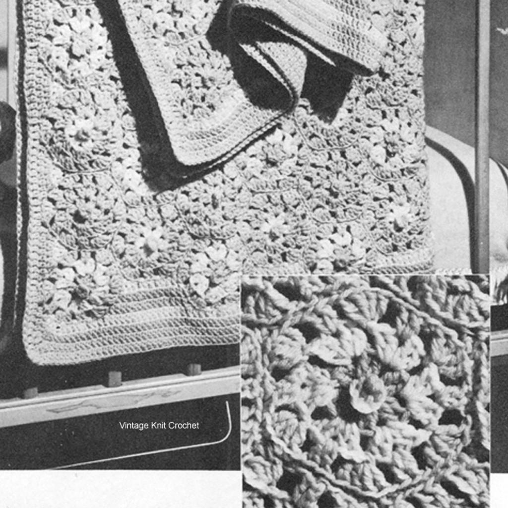 """Baby Blanket Crochet Pattern in 4"""" motifs"""