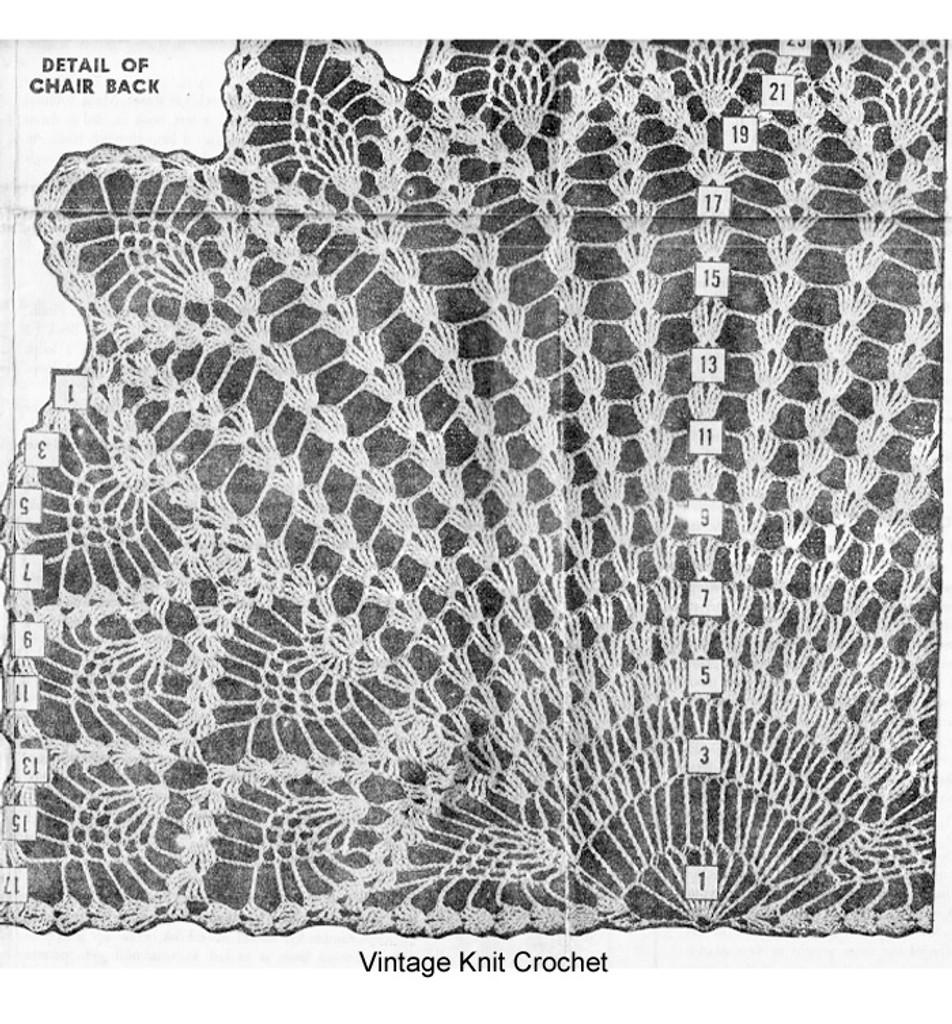 Pineapple Chair Doily Illustration, Design 888