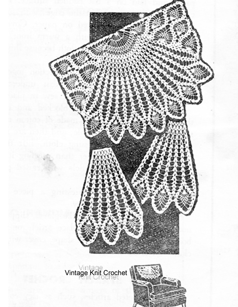 Vintage Mail Order Pineapple Chair Doily Design No 888