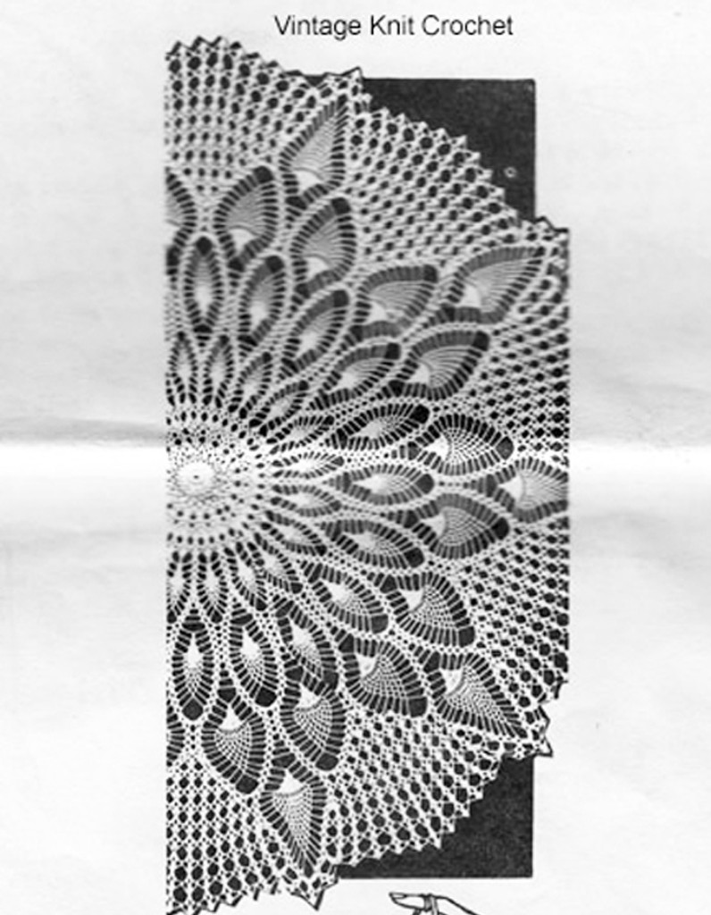 Pineapple Cloth, Centerpiece Doily Pattern, Design 714