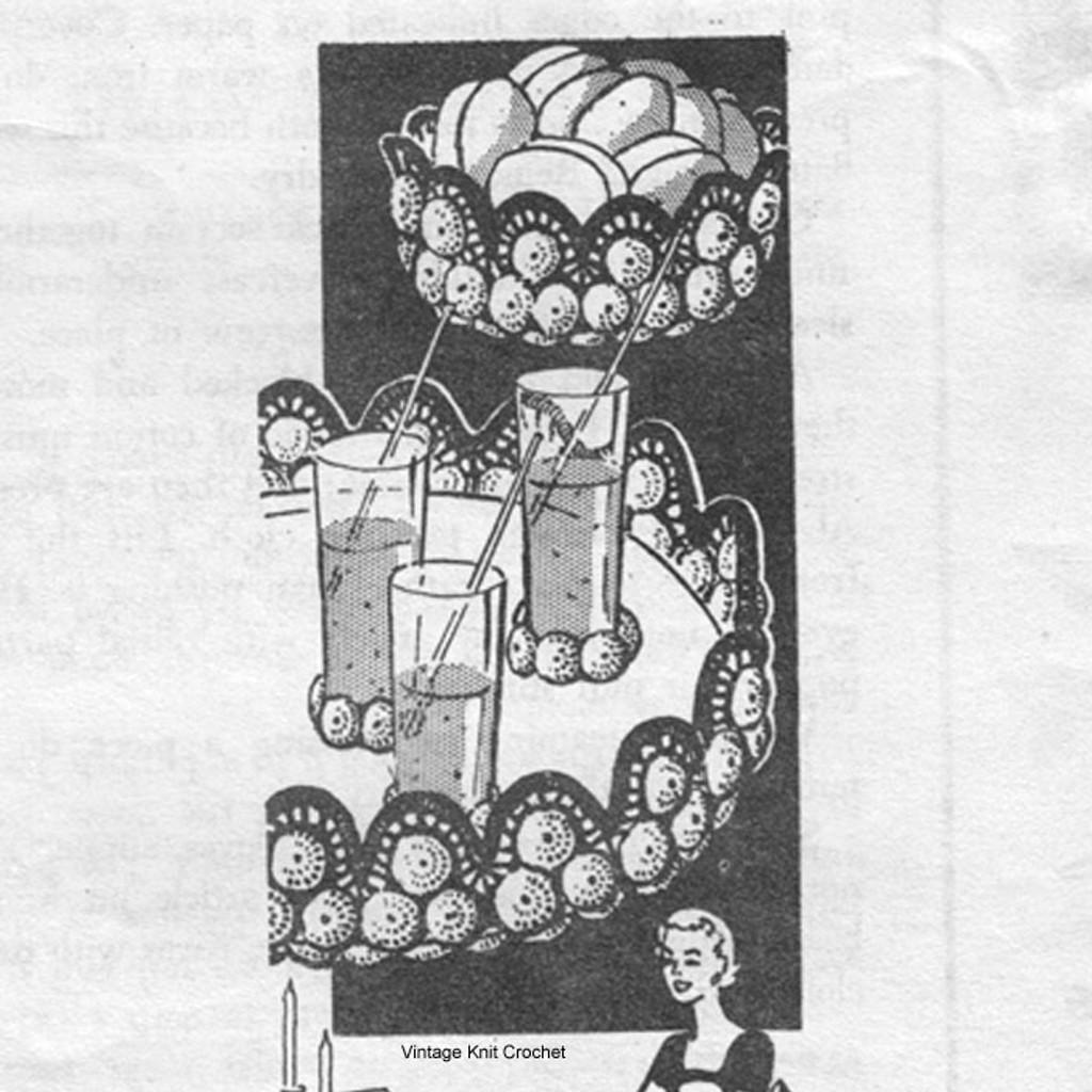 Bottle Cap Crocheted Tray Bowl, Alice Brooks 7146