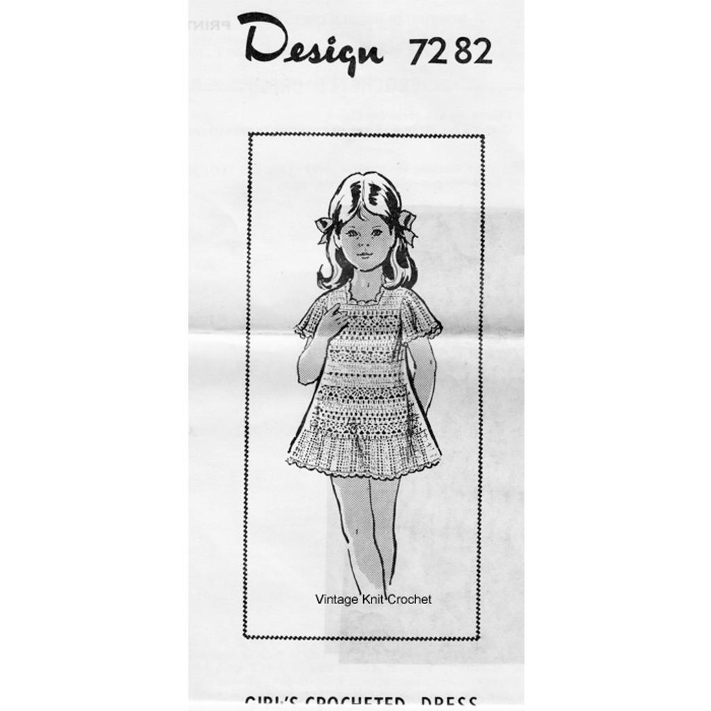 Alice Brooks 7282 Girls Crochet Dress Pattern
