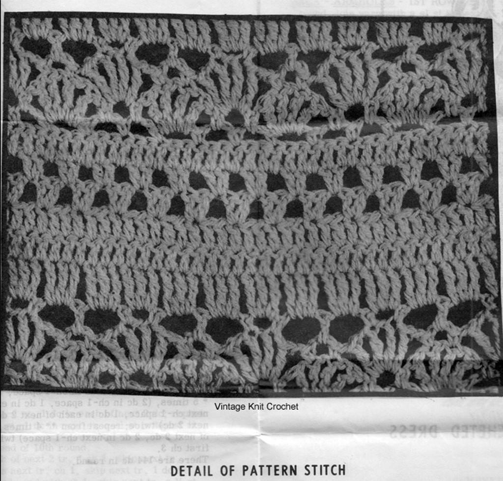 Girls Lace Dress Crochet Pattern Stitch