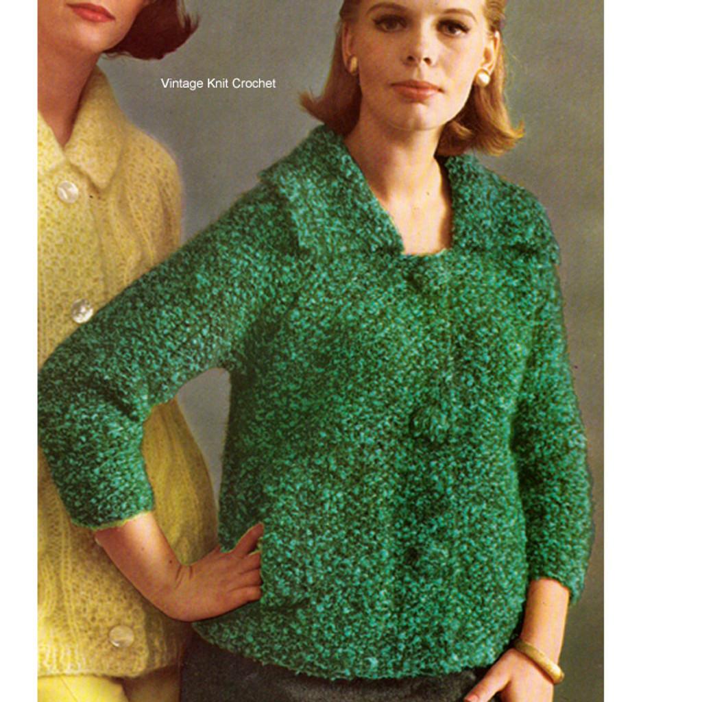 Knitting Pattern Raglan Mohair Cardigan