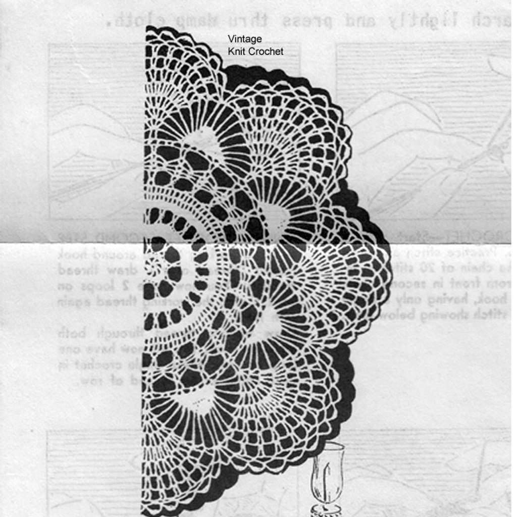 Mail Order Fan Doily Crochet Pattern, Anne Cabot 5675