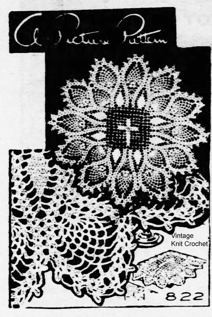 Needlework Bureau E-811 Crochet Bible Cover Doily Pattern