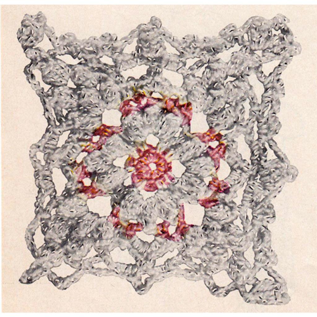 Pink Flower Crochet Medallion Pattern