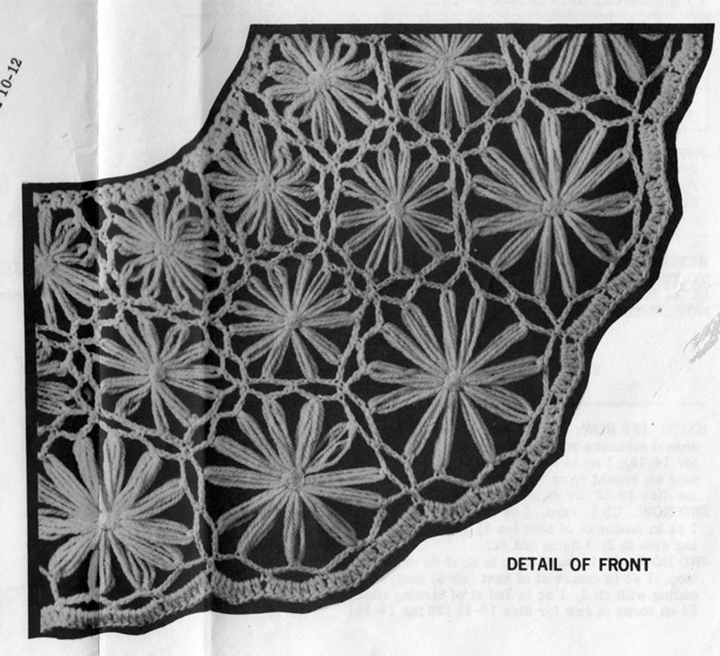 Crochet Daisy Winder Vest, Mail Order 7188