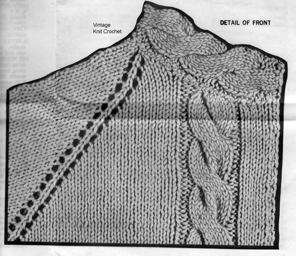 Cable Jacket Knitting Pattern Illustration