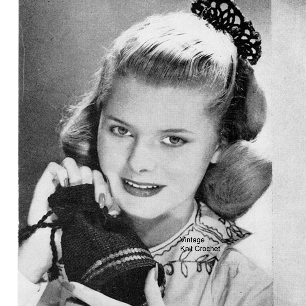 Free crochet hair comb pattern, vintage 1940s