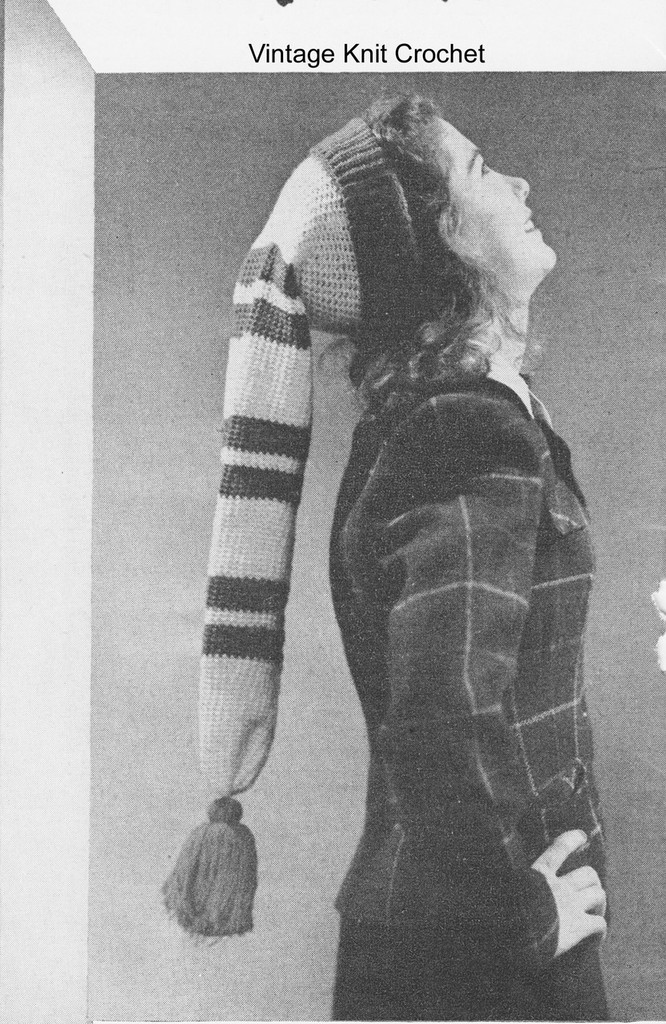Striped Crochet Stocking Hat Pattern