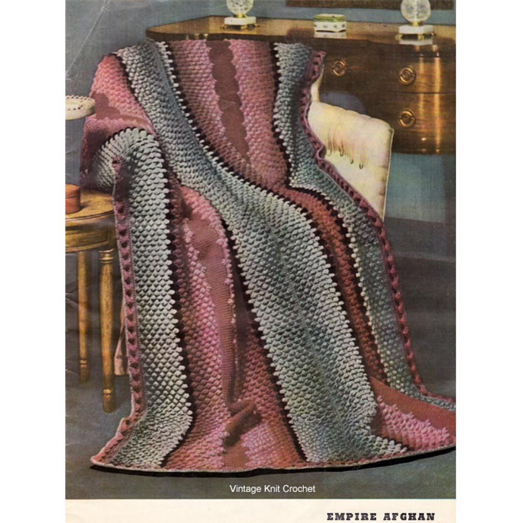 Crochet Puff Stitch Afghan Pattern