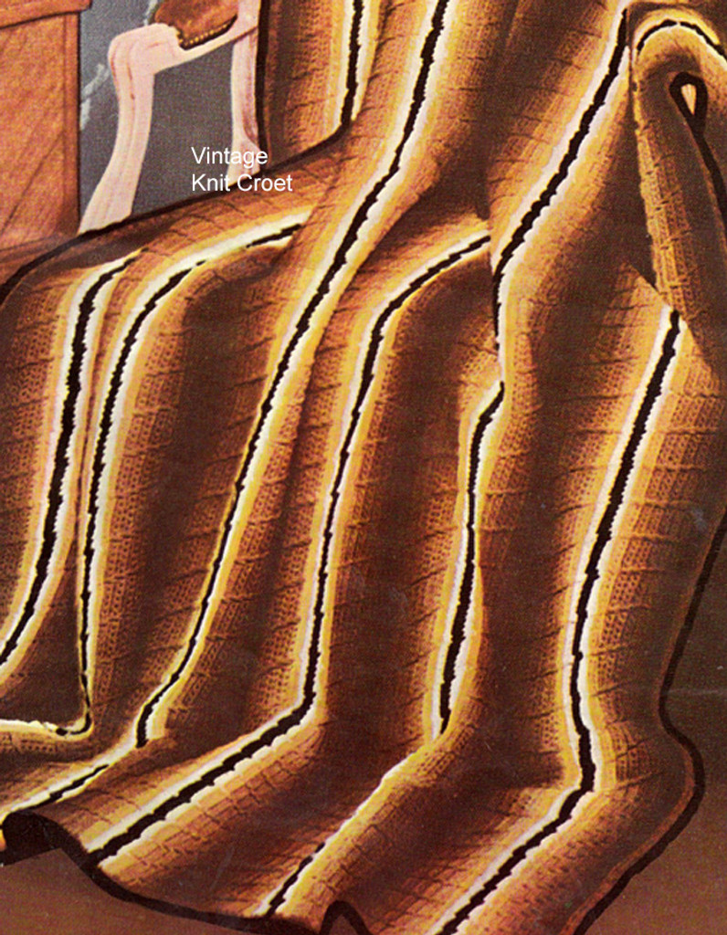 Striped Crochet Afghan Pattern in Puff Stitch