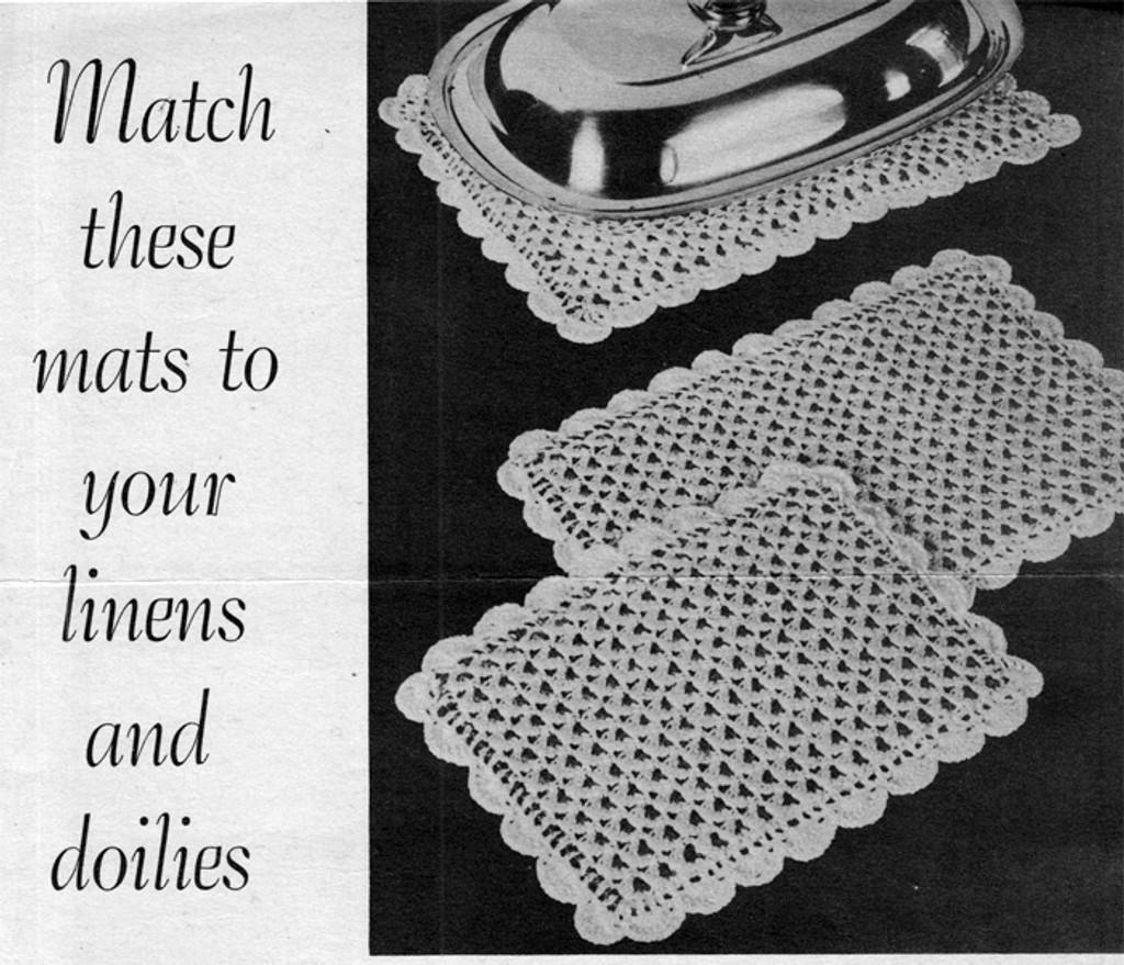 Vintage Lacy Mats Crochet Pattern
