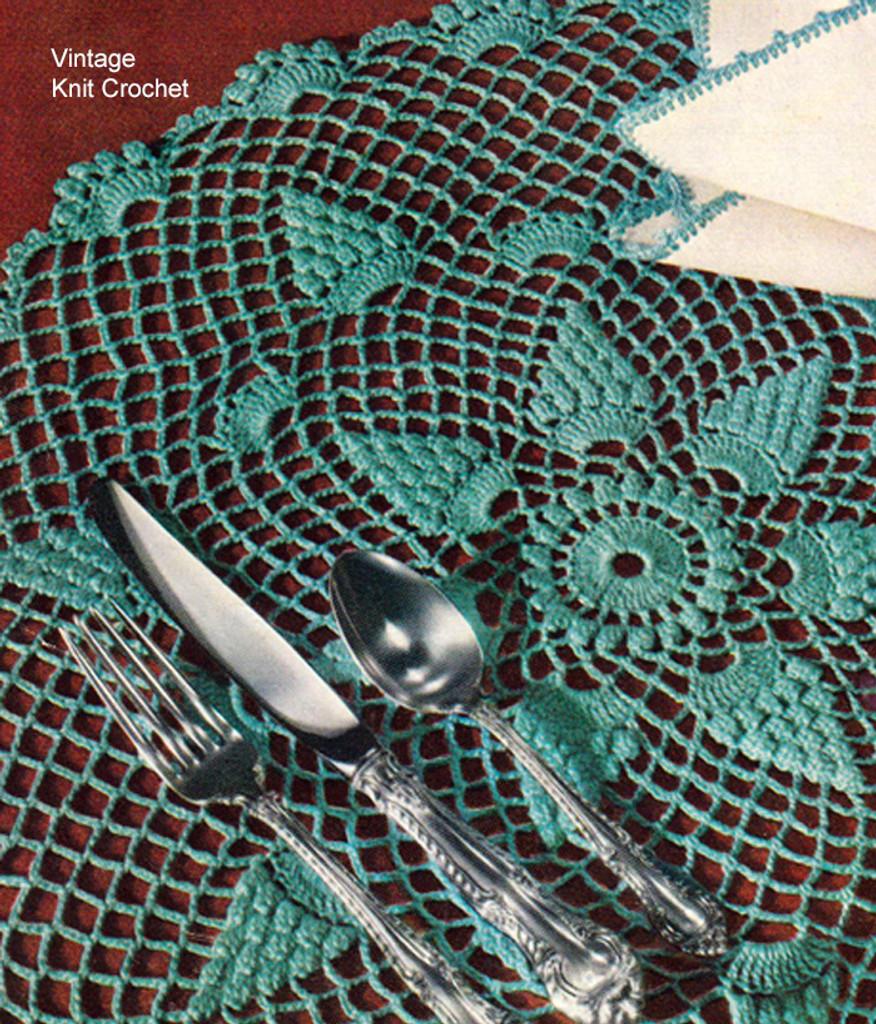 Vintage Crochet Pineapple Sun Rey Doily Pattern