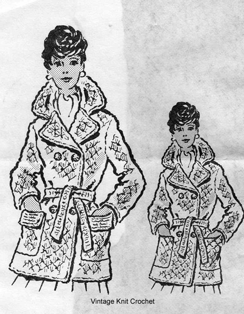 Mail Order Crochet Coat Pattern in Shell Stitch