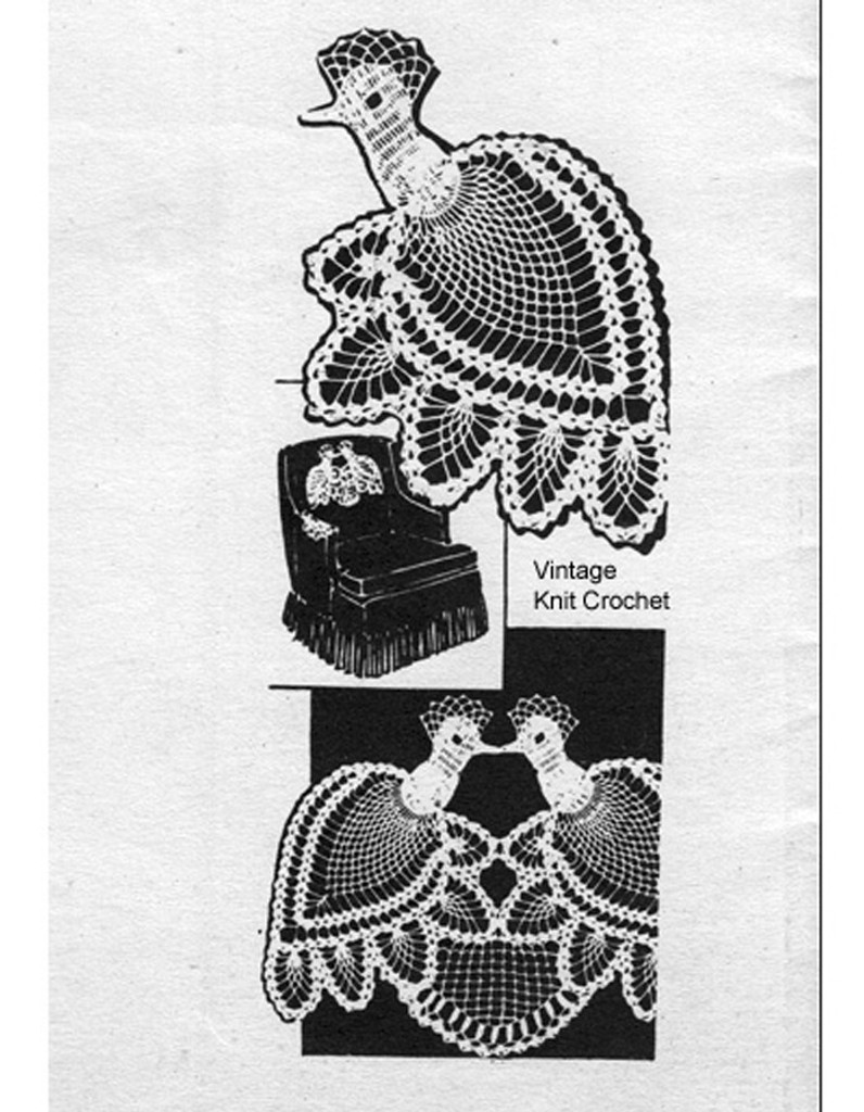 Mail Order Peacock chair set pattern no 7175