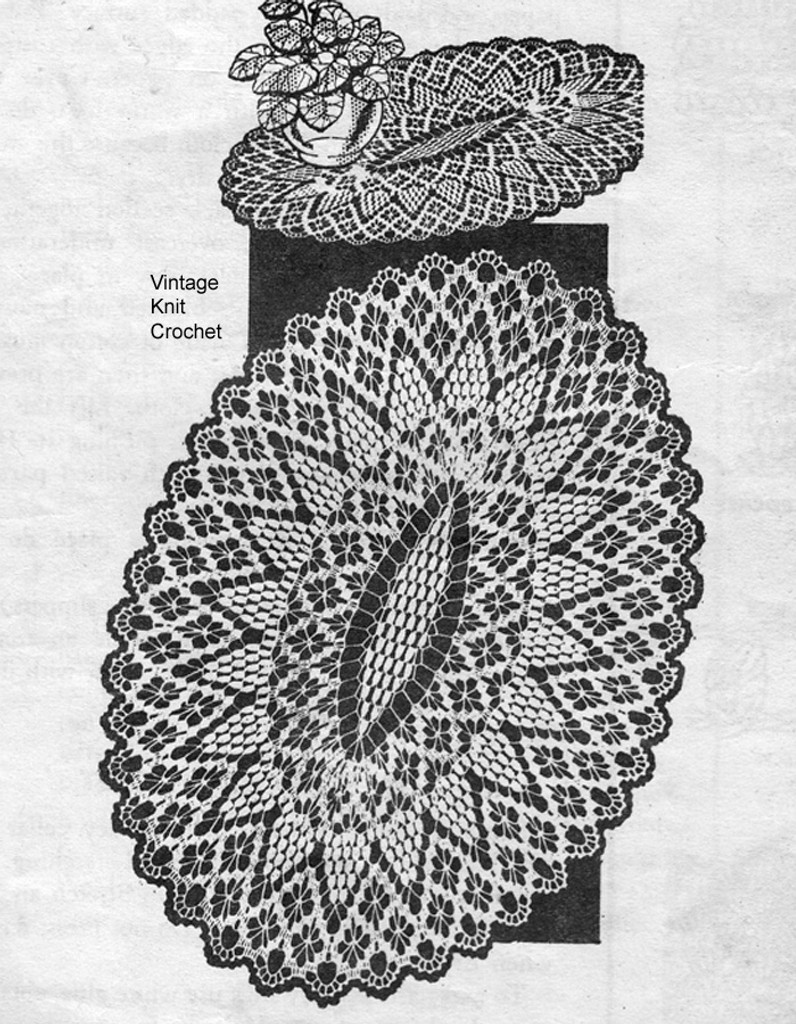 Mail Order Oval Petal Stitch Doily Pattern No 7191