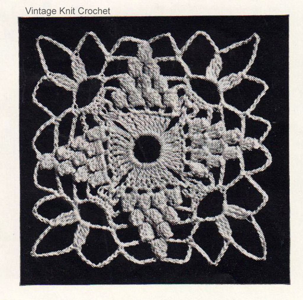 Small Crochet Medallion Pattern Illustration