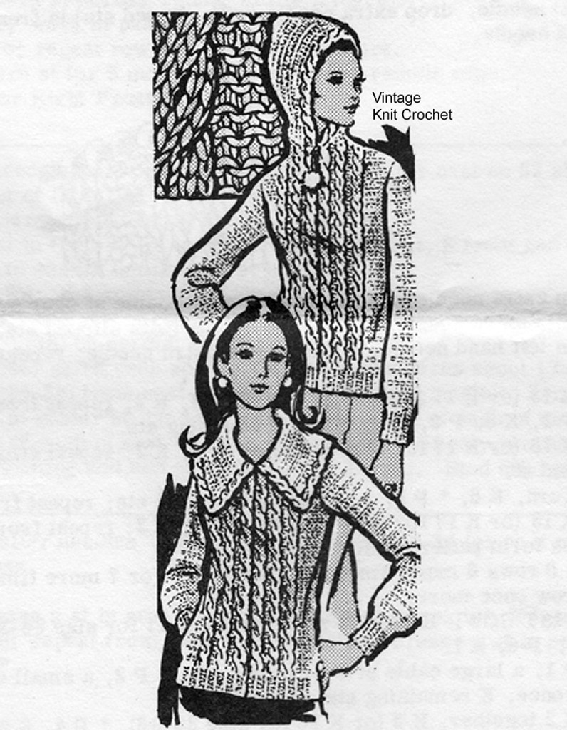 Hooded Jacket Knitting Pattern, Mail Order 7356