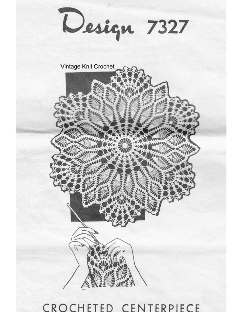 Pineapple Crochet Cloth Pattern, Mail Order 7327