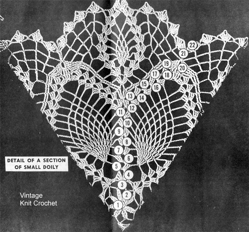 Small Doily Pattern Stitch Illustration