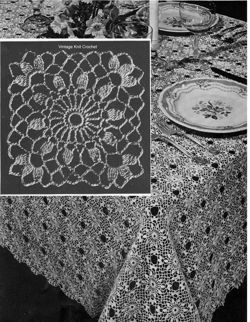 Cluster Stitch Medallions for Tablecloth Pattern