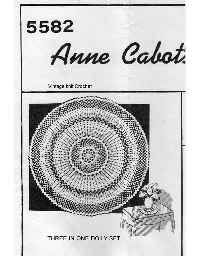 Mail Order Crochet Luncheon Set No. 5582