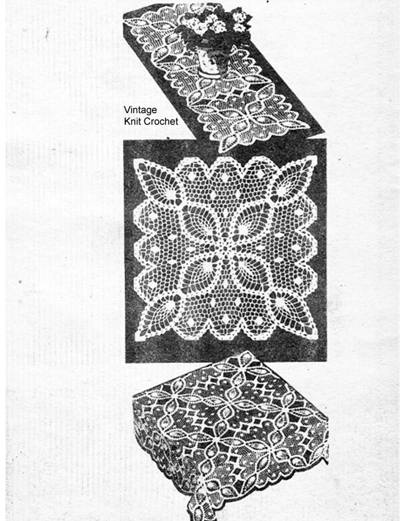Mail Order 859, Crochet Pineapple Cloth Pattern