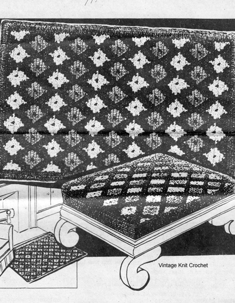 Large Area Rug Crochet Pattern, Mail Order 7110