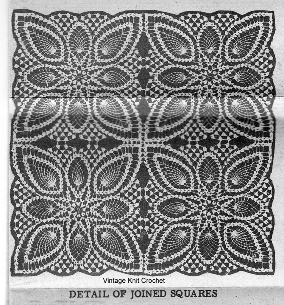Crochet Tablecloth Pattern, Pineapple Star, Alice Brooks 7013