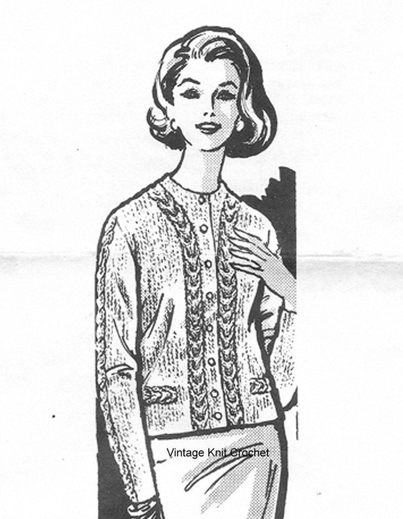 Mail order 683, Knitted Cable Jacket Pattern