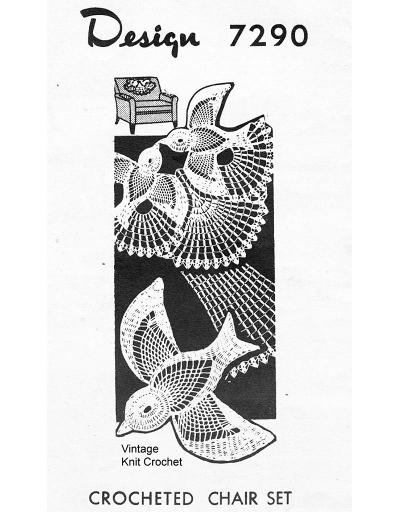 Love Birds Crochet Pattern, Mail order 7290