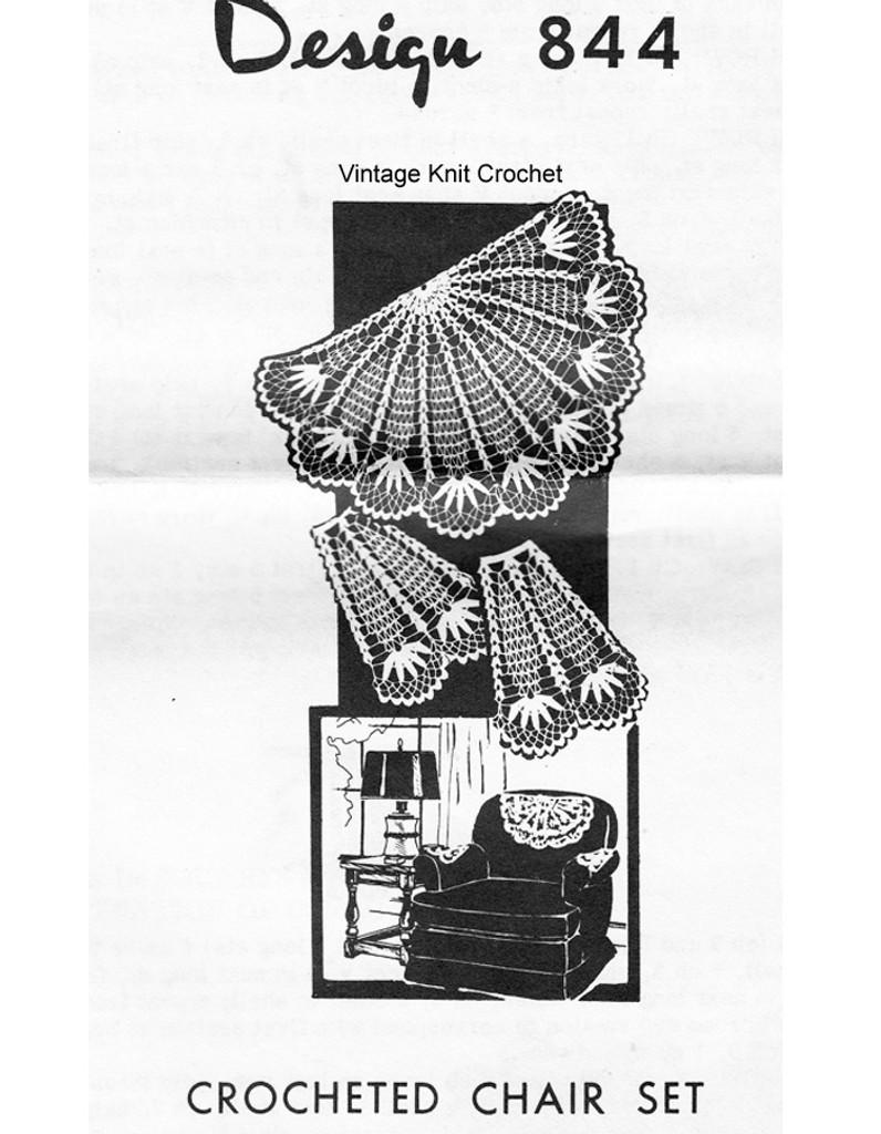 Crochet Pineapple Fan Chair Doily Pattern, Design 844