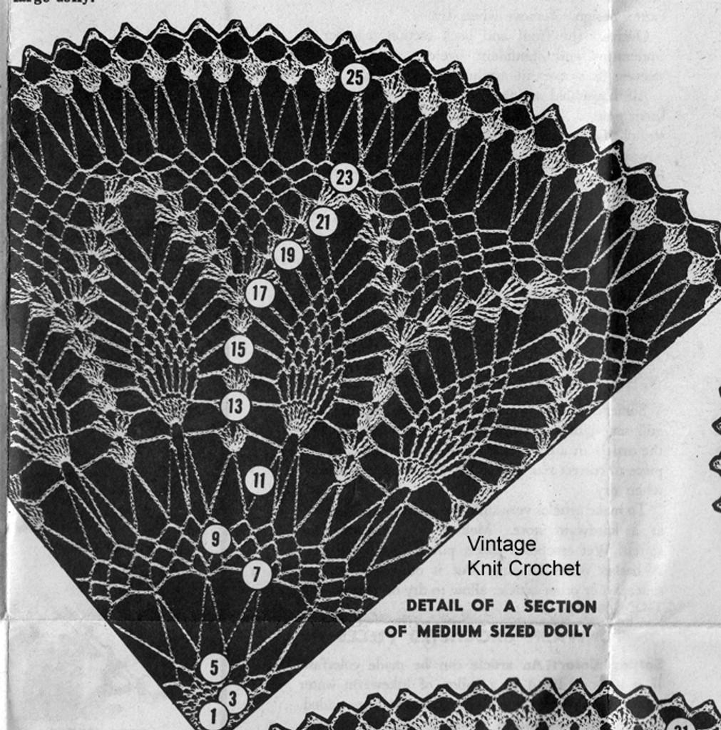 Design 7240 Medium Doily Pattern Stitch Illustration