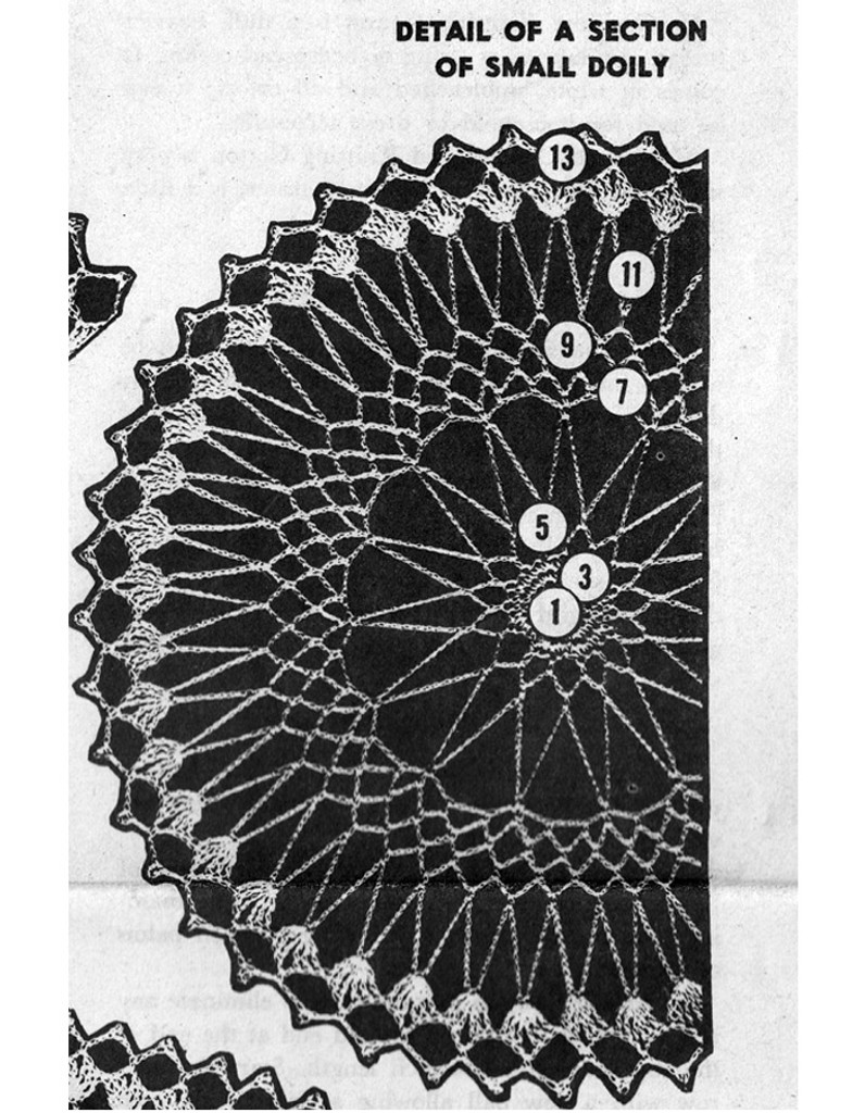 Design 7240 Small Doily Pattern Stitch Illustration