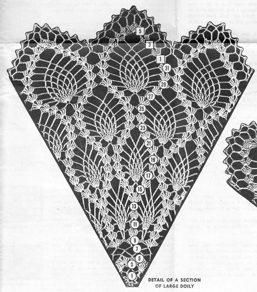 Large Pineapple Doily Illustration, Mail Order 3101