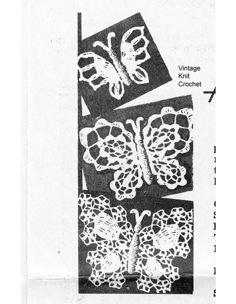 Crocheted Butterfly Accessory Pattern, Alice Brooks 7334
