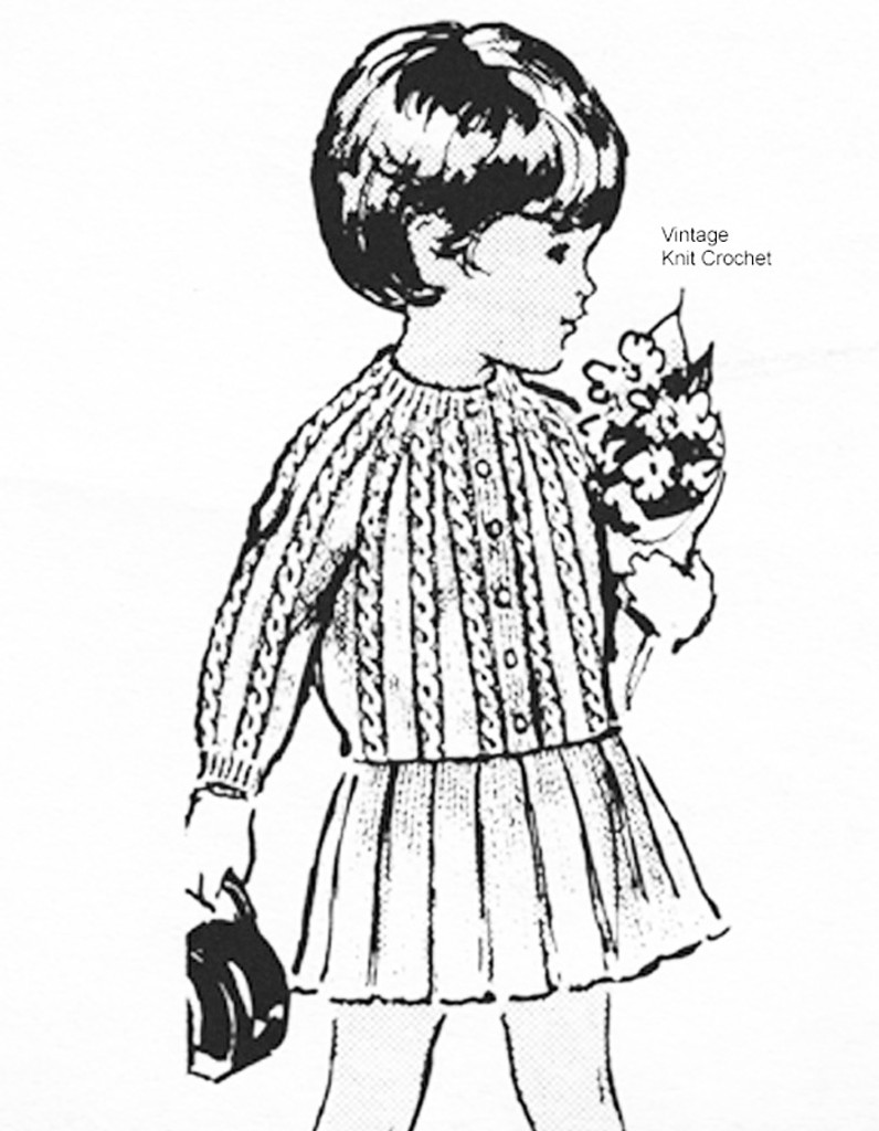 Childs knitted suit pattern, jacket skirt, Laura wheeler 958