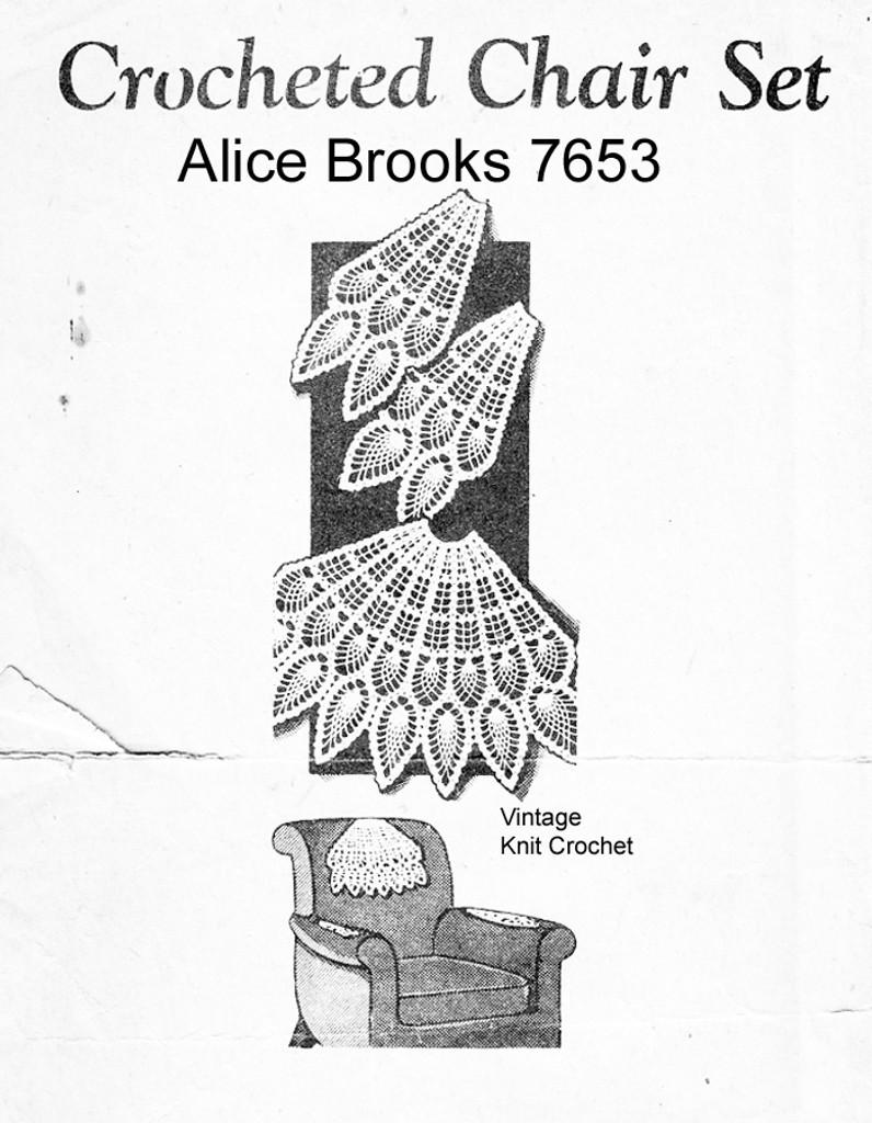 Fan Chair Set Crochet Pattern,  Mail Order 7653