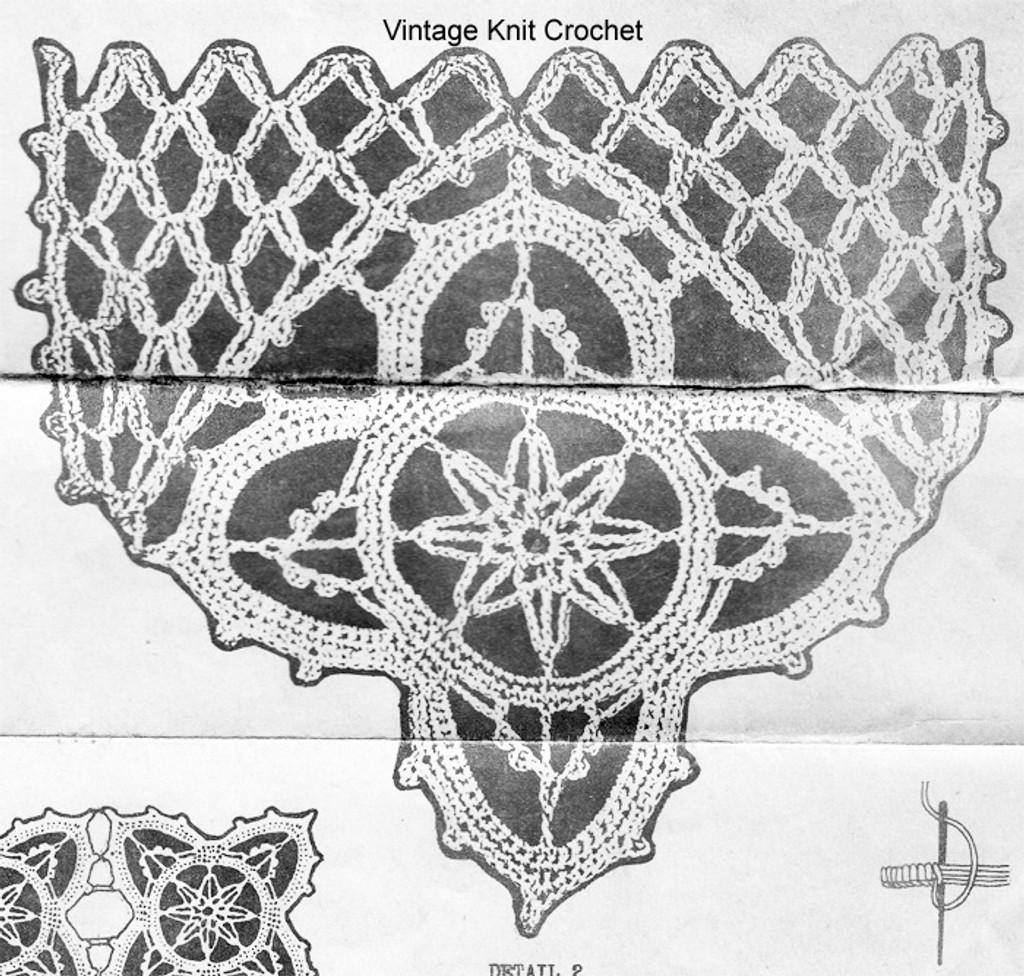 Crochet Scarf Ends Detail, Alice Brooks 5835
