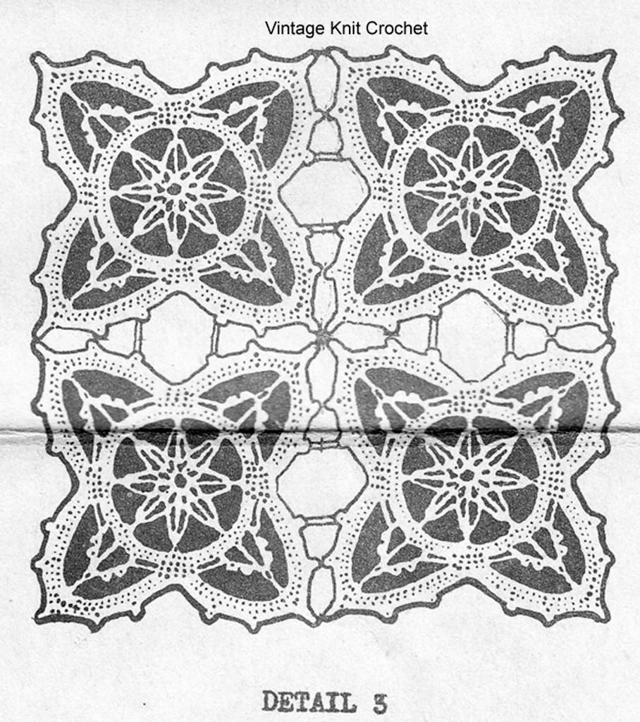 Crochet Runner Squares Pattern, Mail Order 5835